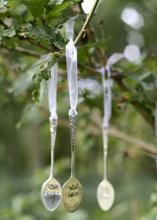 Recycled Spoon Christmas Decoration.