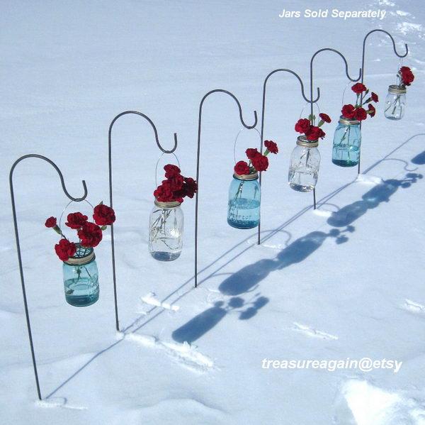 Mason Jar Wedding Flowers.