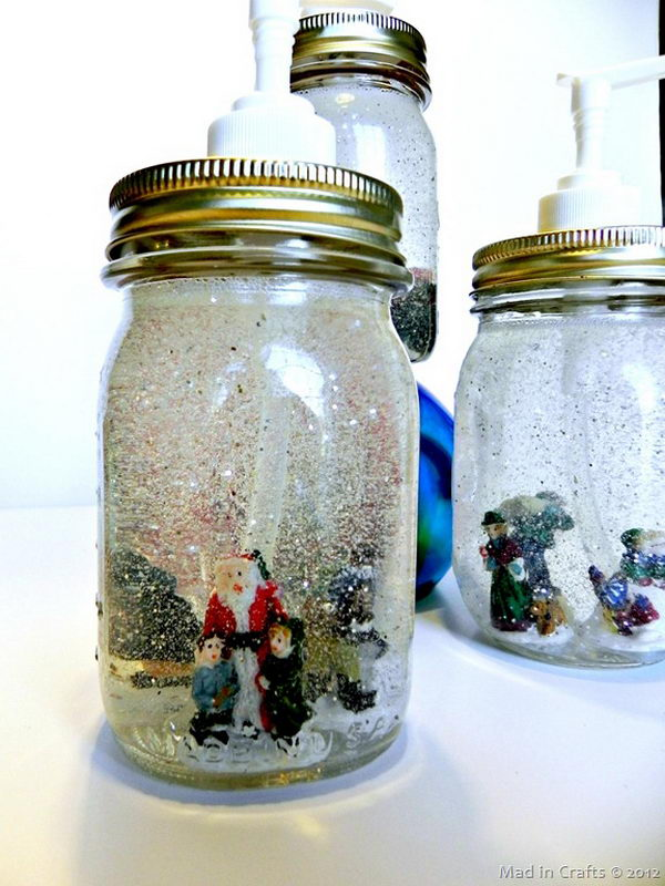 Snow Globe Soap Dispensers.