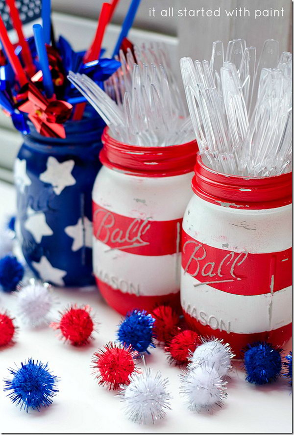 4th of July Mason Jar.