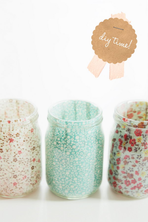 Sweet DIY Votives Gift.