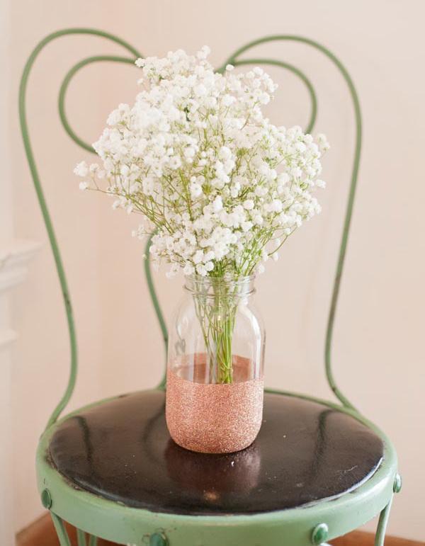 Glitter Dipped Vases.