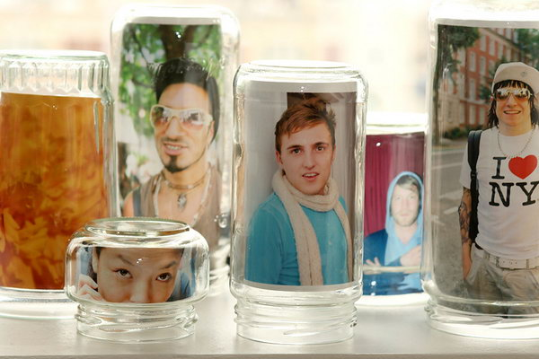 Mason Jar Photo Frames.