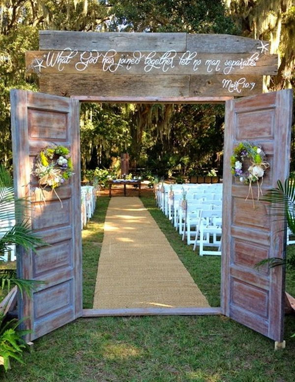 Lovely Outdoor Wedding Shrine. I absolutely love it, it looks awesome design.