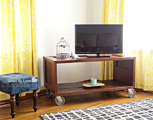 Entertainment TV Console. Get the tutorial