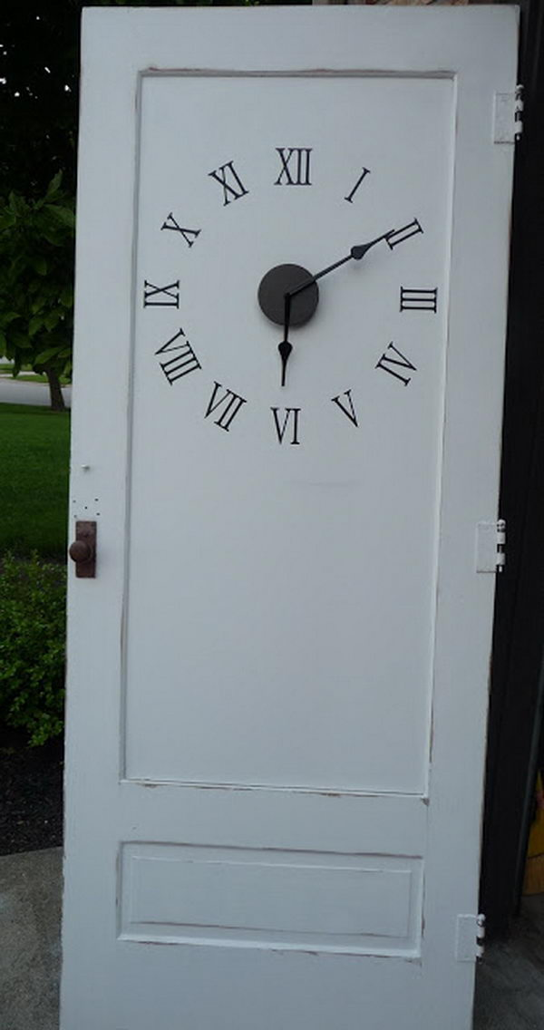 Old Door Clock. I absolutely love it, it looks awesome design.