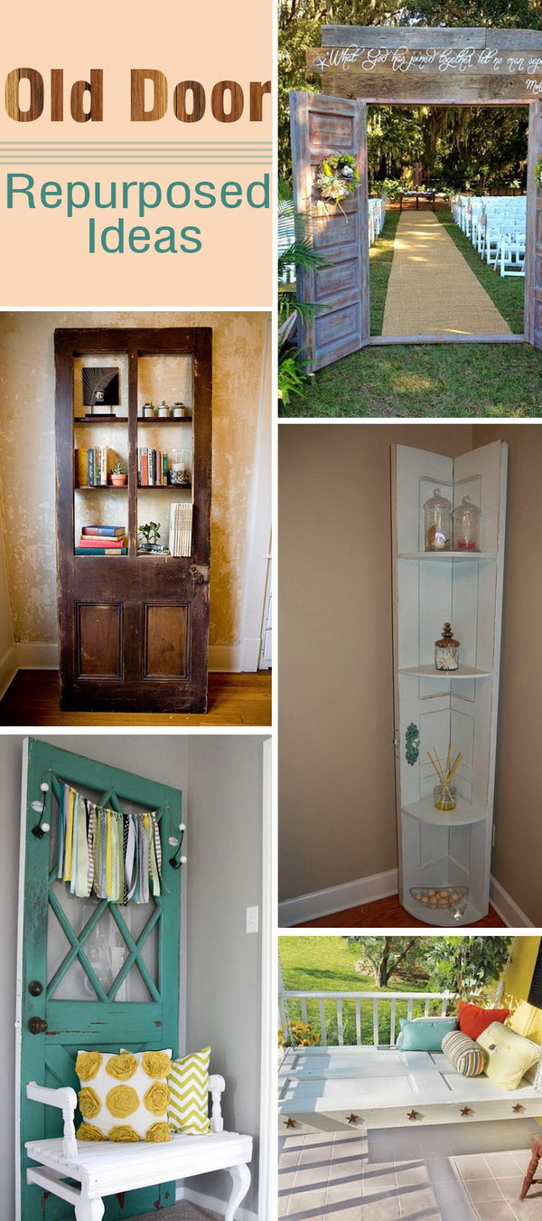 Lots of Old Door Repurposed Ideas!
