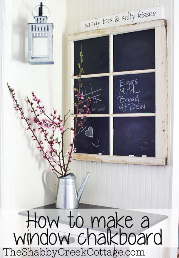 A Fancy Window Chalkboard!