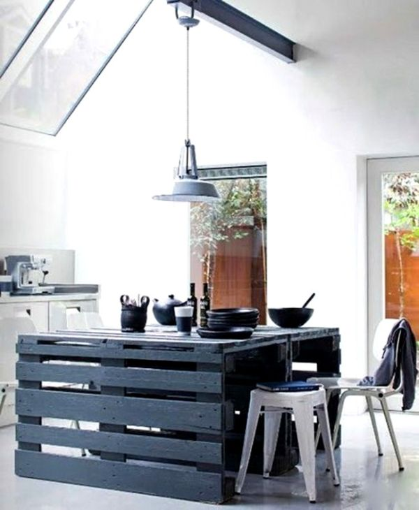 Pallet Kitchen Island.