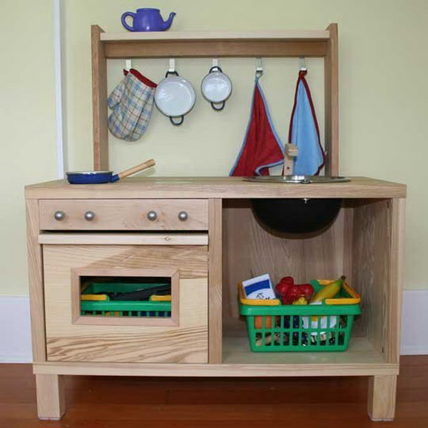 Fantastic DIY Wooden Play Kitchen. See more details