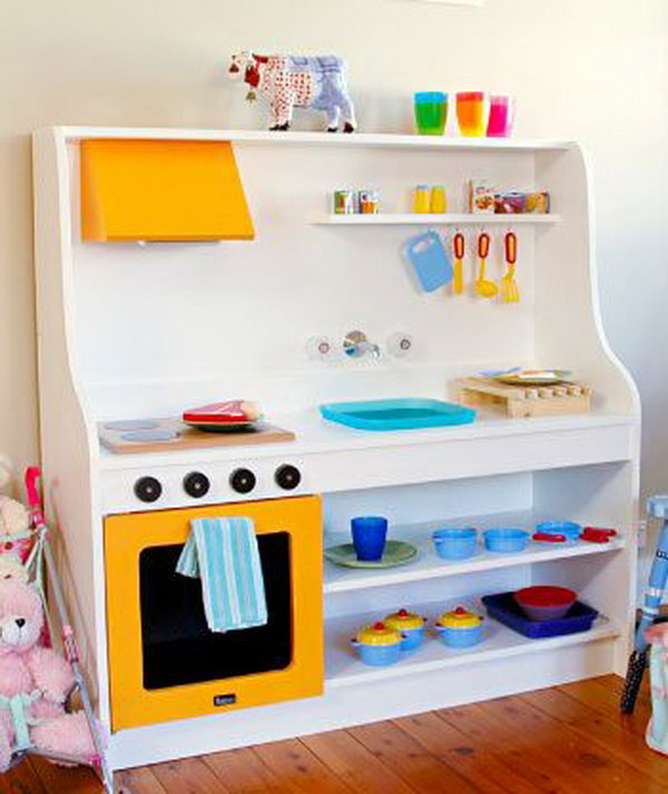 25 DIY Play Kitchen Ideas & Tutorials Cool Gifts for
