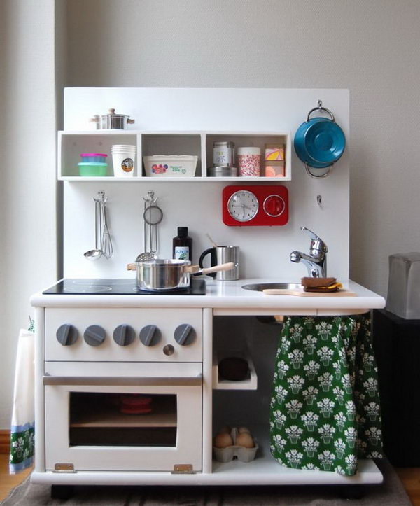 Well Equipped Kitchen from a Corner Cabinet. Get the tutorial