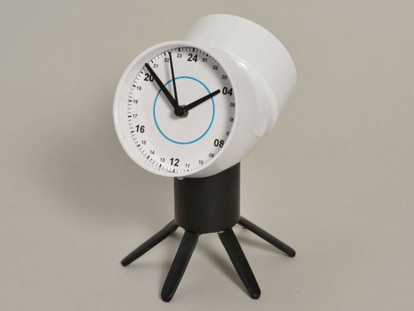 PVC Two Faced Clock. See the tutorial
