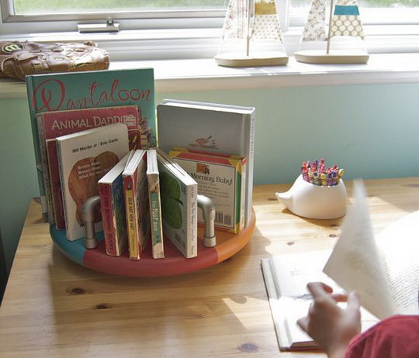 PVC Pipe Book Caddy.