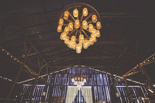 Rustic Chandelier Made from Old Mason Jars.