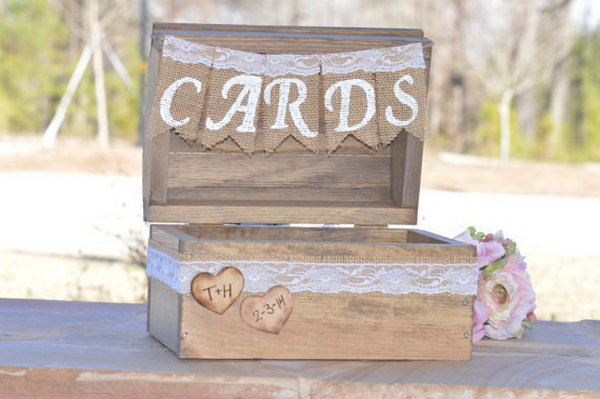40 beautiful rustic wedding ideas noted list for Wedding mailbox decorating ideas
