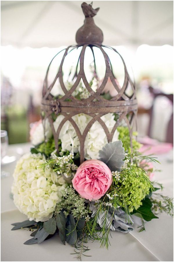 Rustic, Vintage Styled Wedding Centerpieces.