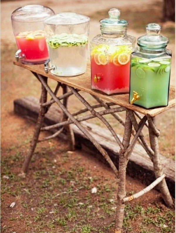 Rustic Drink Holders.