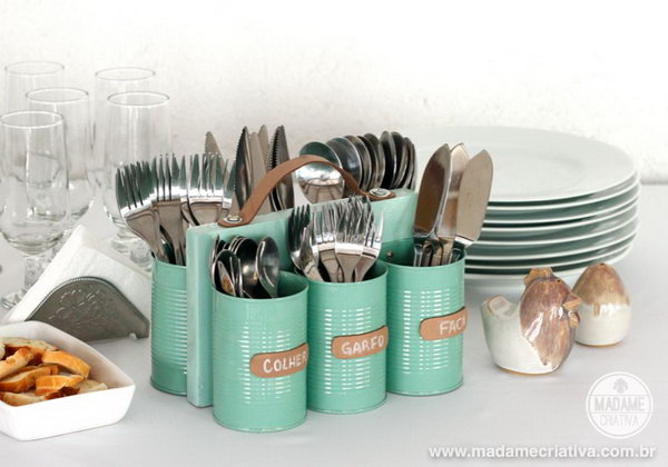 DIY Cutlery Holder.