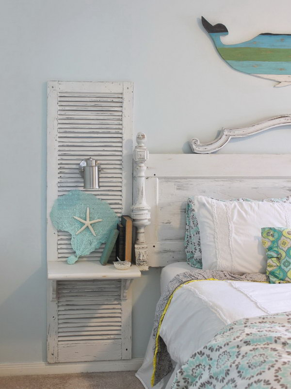 Old Shutter Nightstand.