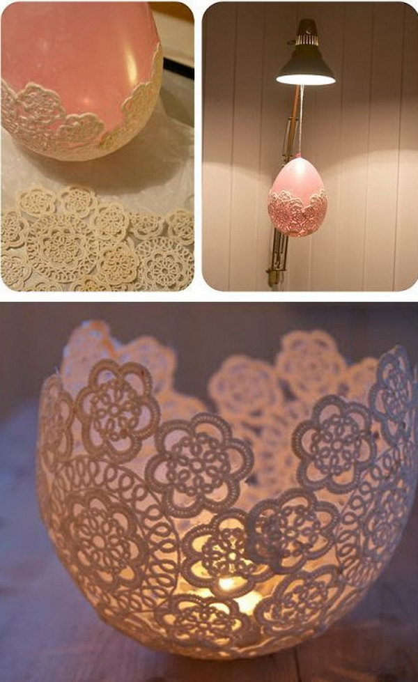 Lace Candle Holder. See more details