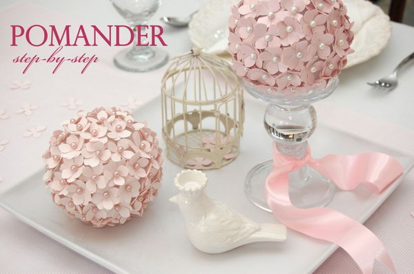 Pomander Flower Ball. See the tutorial