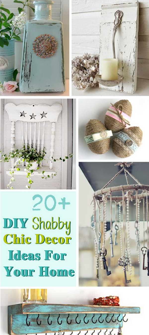 20 diy shabby chic decor ideas for your home noted list. Black Bedroom Furniture Sets. Home Design Ideas