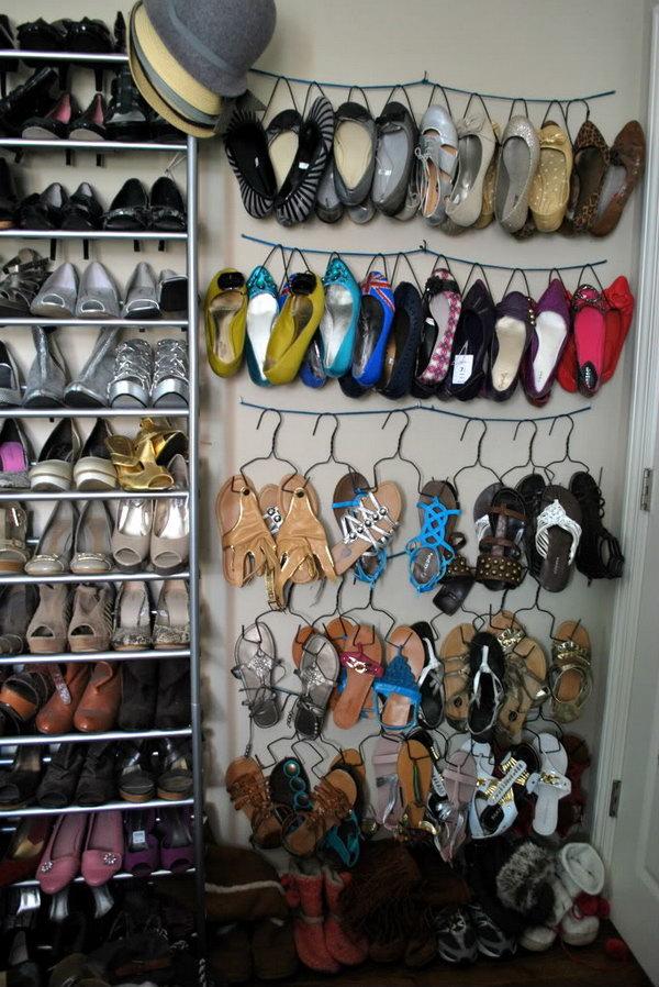 DIY Shoe Hangers.