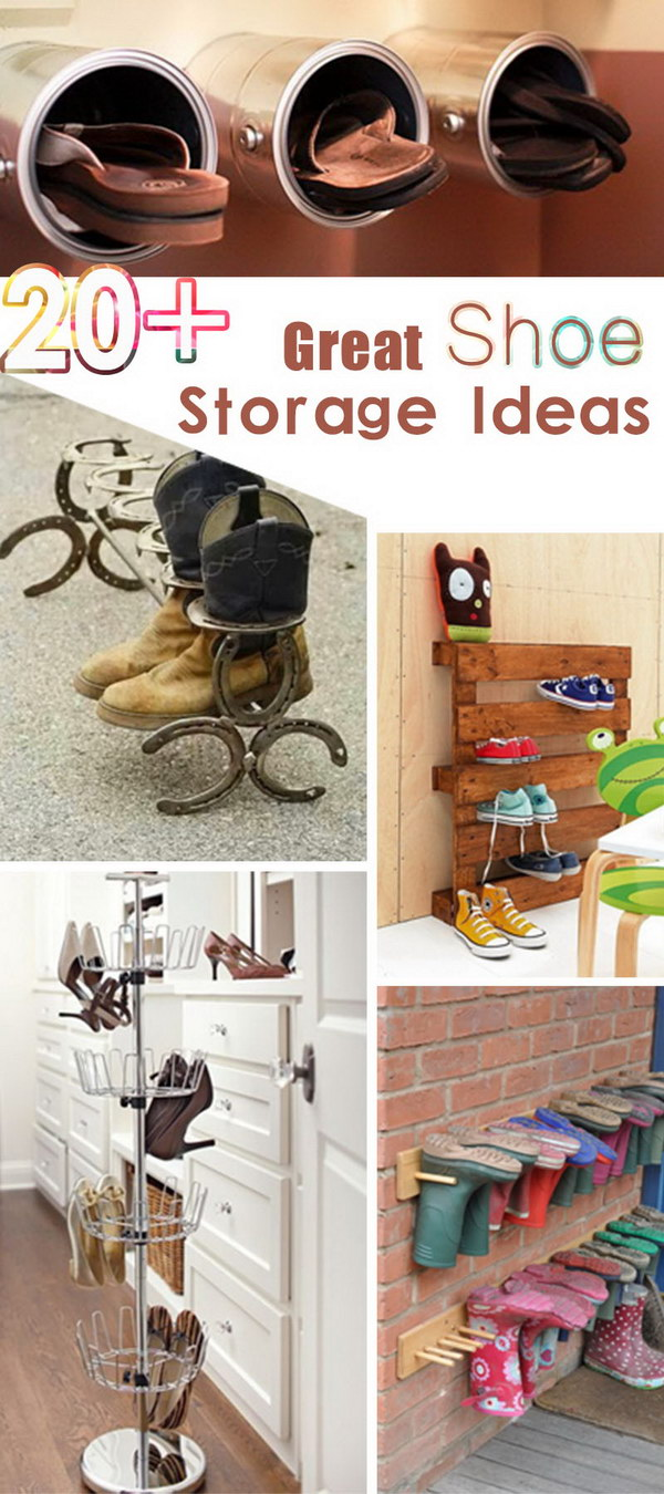 Great Shoe Storage Ideas!