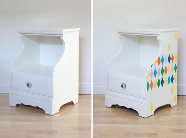 Colorful Stenciled Nightstand