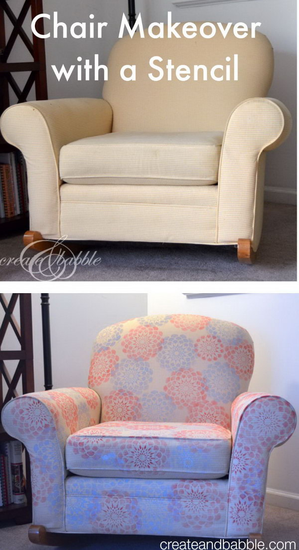 Chair Makeover with a Stencil