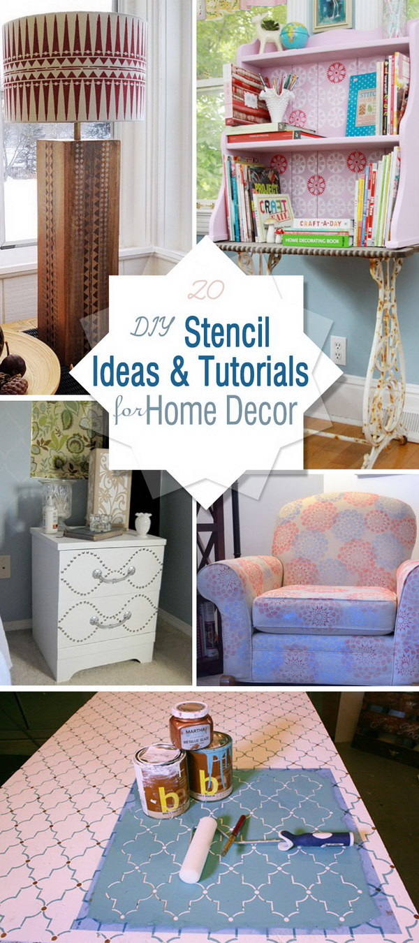 DIY Stencil Ideas and Tutorials for Home Decor!