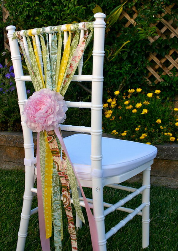 Cute + Whimsical Chair Decoration.