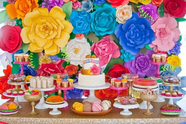 Fancy Fiesta Dessert Display.