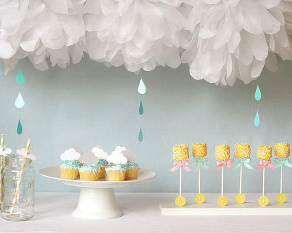 Rain Themed Baby Shower for Girl.