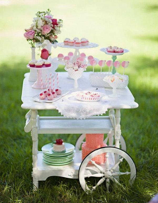 Vintage Dessert Cart.