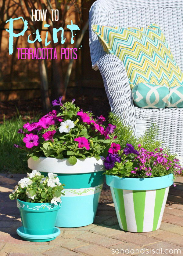 Blue Painted Pots. See how