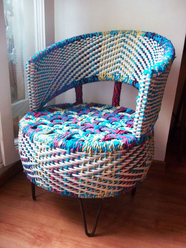 Rope wrapped Tire Armchair.