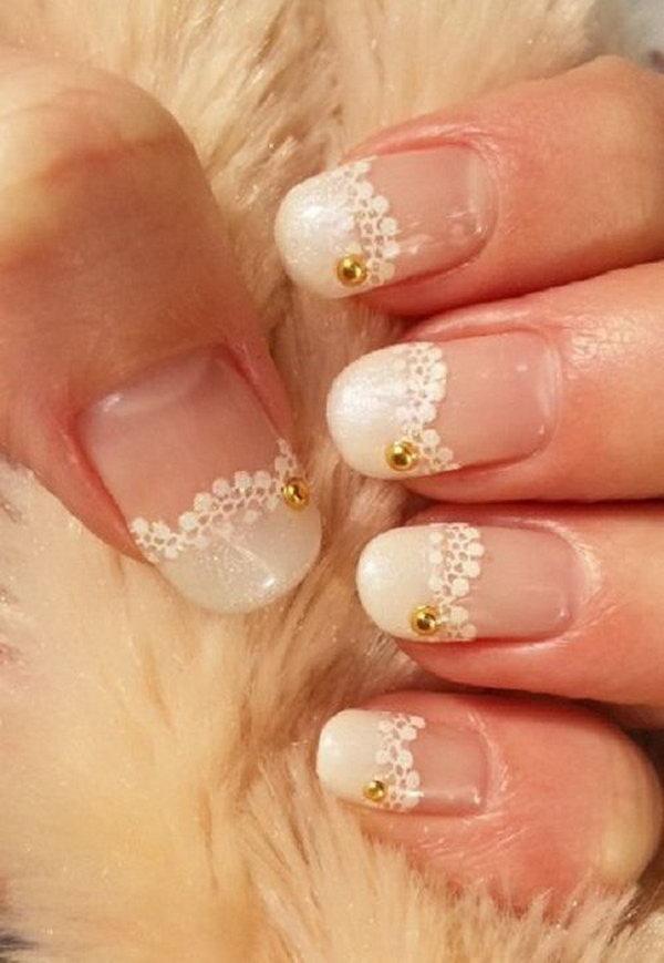 White Lace Nail.