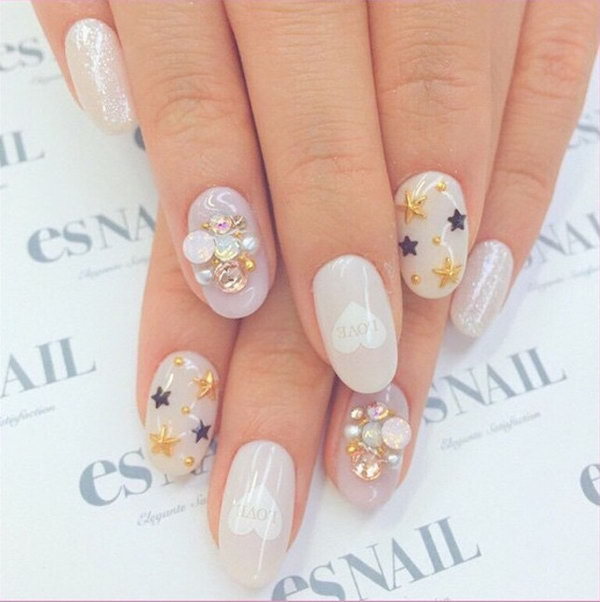 Love Decals Nail Design.