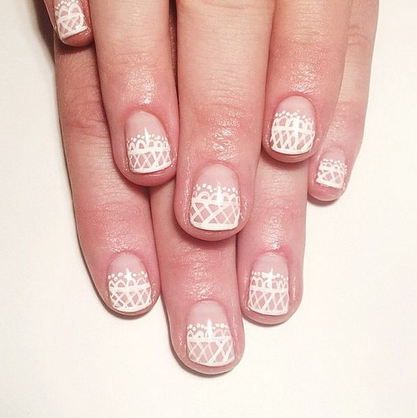 Light Lace Nail Design.