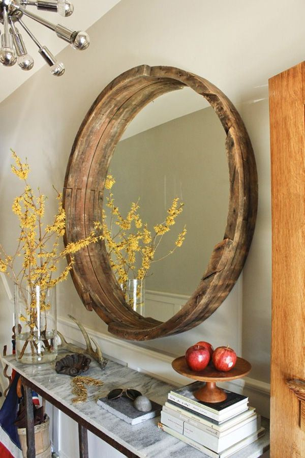 Wine Barrel Mirror.