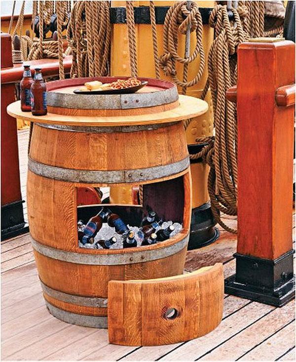 DIY Wine Barrel Cooler.