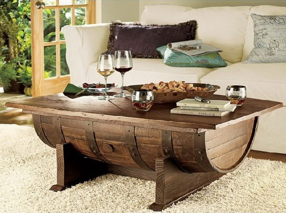 Wine Barrel Coffee Table.