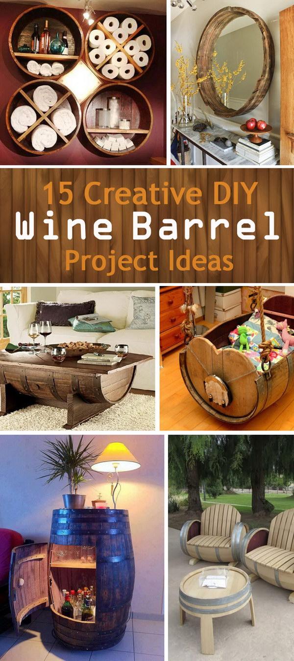 15 Creative Diy Wine Barrel Project Ideas Noted List