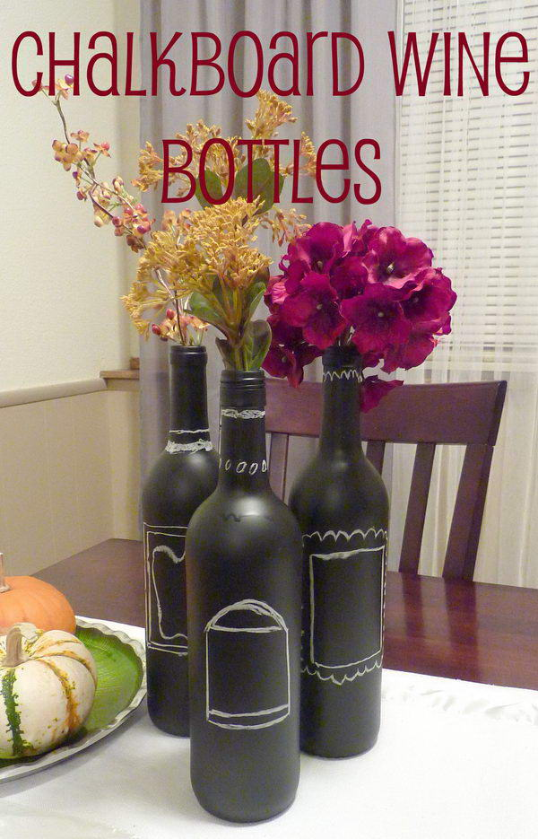 Chalkboard Painted Centerpiece.