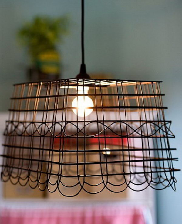 DIY Basket Lampshade. See the steps