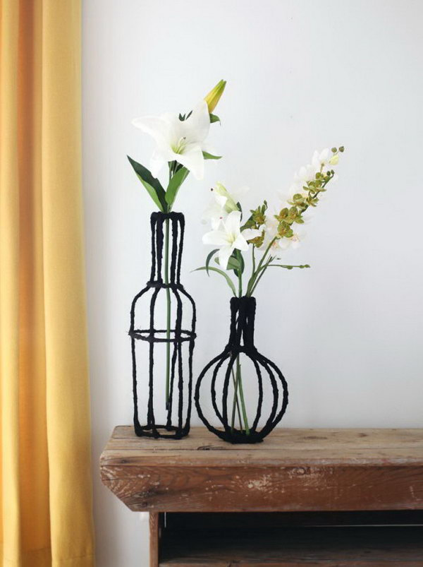 Decorative Wire Vases. See how to make it
