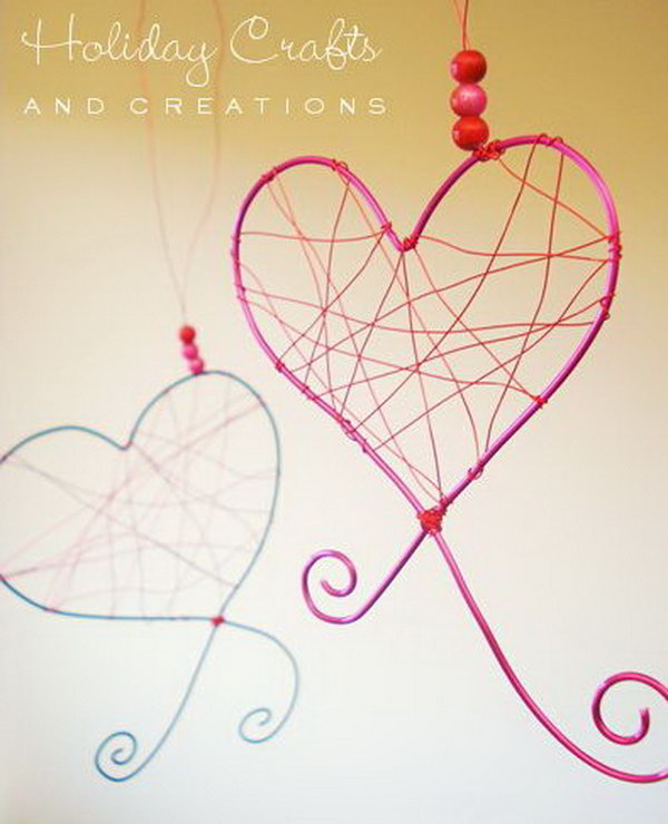 Wire Hearts for Decoration. Get the tutorials