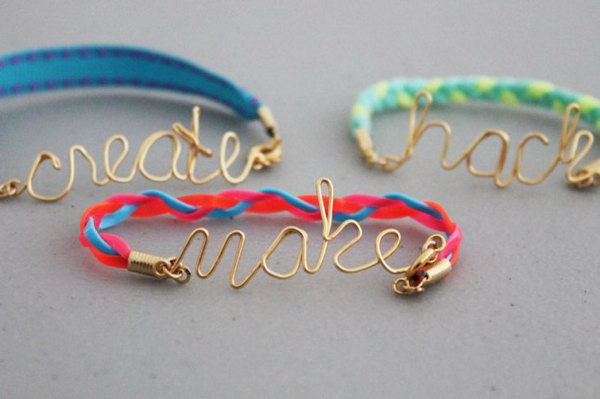 Wire Word Friendship Bracelets. See how